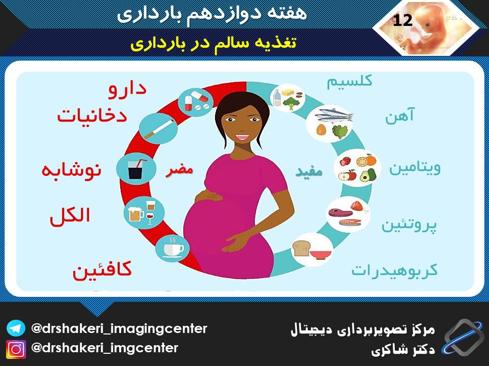 تغذیه سالم در بارداری